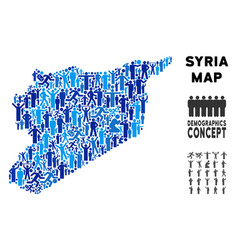 People syria map vector