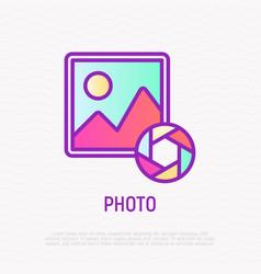 photo thin line icon modern vector image