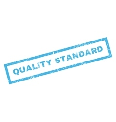 Quality Standard Rubber Stamp vector