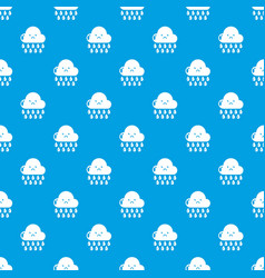 rain pattern seamless blue vector image