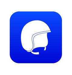 Safety helmet icon digital blue vector