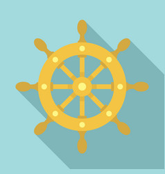 ship wheel icon flat style vector image