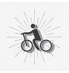 silhouette cyclist isolated icon design vector image