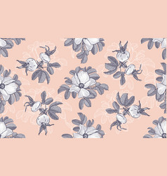 site header blogging wild roses floral fashion vector image
