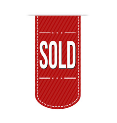 sold banner design vector image