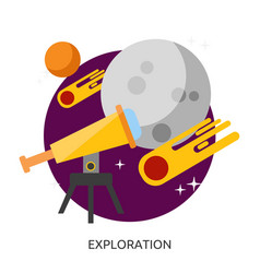 Space exploration image vector
