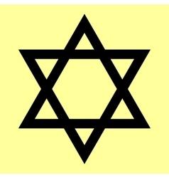 Star Shield of David or Magen vector