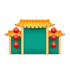 temple with bamboo roin chinese style isolated vector image