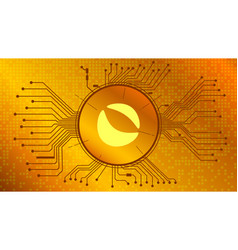 Terra luna cryptocurrency token symbol defi gold vector