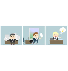 three businessmen in office vector image