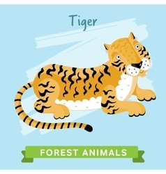 Tiger forest animals vector image