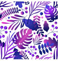 trendy gradient colorful neon purple leaves on vector image