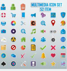 Trendy line icons - multimedia vector