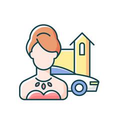 Upper class rgb color icon vector