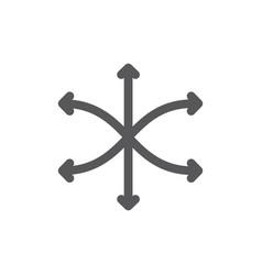 versatile flexibility line icon vector image