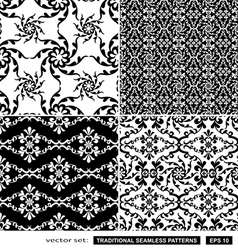 Vintage black and white backgrounds vector image