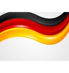 Wavy German colors background Flag design vector image