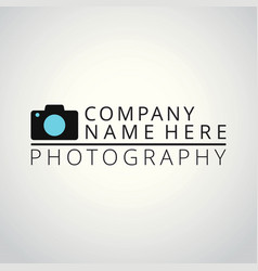 white and sky blue icons for photographer on vector image