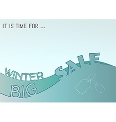 Winter big sale vector