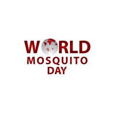World mosquito day celebration template design vector