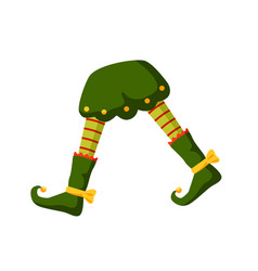 xmas elf legs flat little vector image