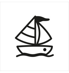 yacht icon in simple monochrome style vector image