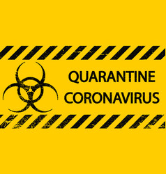 Yellow and black stripes sign symbol quarantine vector