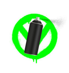 yes graffiti spray can sign icon aerosol paint vector image