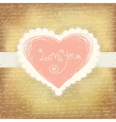 beautiful greeting valentines vector image