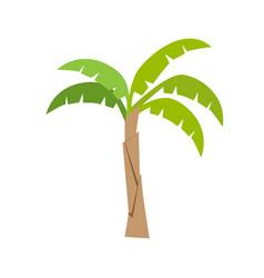 Flat color banana tree icon vector
