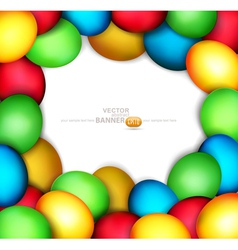 frame of easter eggs vector image vector image