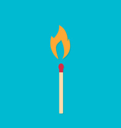 match with fire vector image