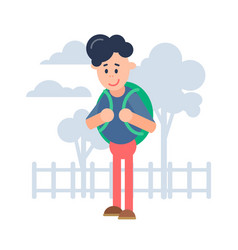 a cartoon character style flat vector image