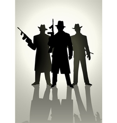 Gangsters vector image