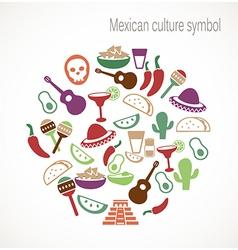 Mexican culture symbols vector image vector image