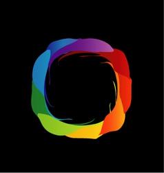 Spectrum of visible light- color wheel design vector image