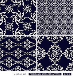Vintage blue backgrounds vector image