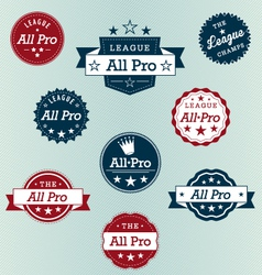 All Pro Labels vector image vector image
