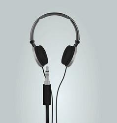 audio jack and grey earphones vector image
