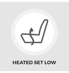 Heated set low flat icon vector image
