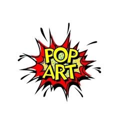 Pop Art Comic Book Style vector image