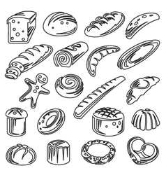 set of breads vector image