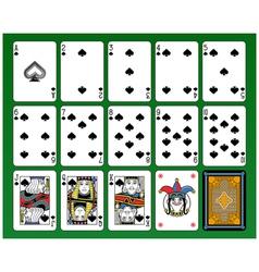 Spades Suite vector image