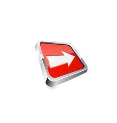 arrow button vector image vector image