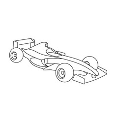 car racingextreme sport single icon in outline vector image vector image