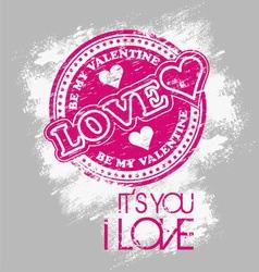 love valentine vector image vector image