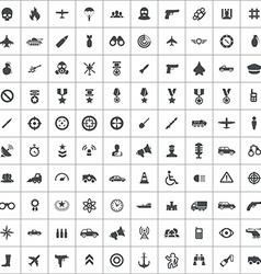 100 war icons vector