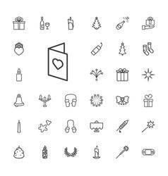 33 christmas icons vector