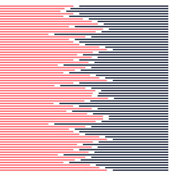 abstract striped lines pattern dark blue and pink vector image