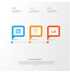 Authority icons set collection of project targets vector